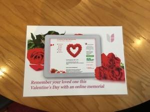 Valentines Desk Place Card