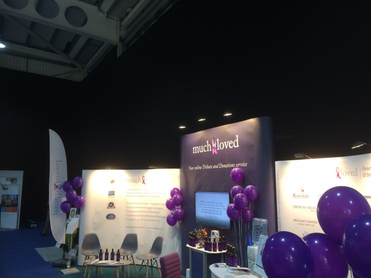 MuchLoved's Stand at the 2017 National Funeral Exhibition