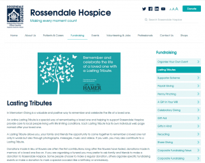 Rossendale Hospice website